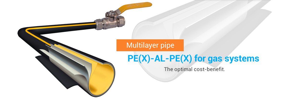 Multilayer pipe PEX AL PEX for gas systems, the optimal cost-benefit.