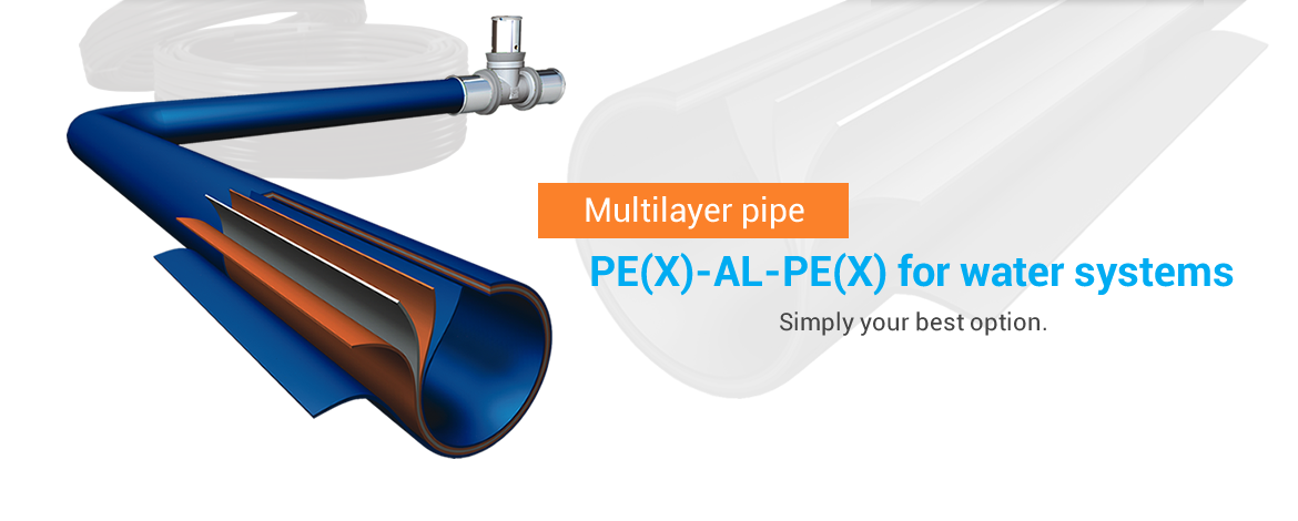 Multilayer pipe PEX AL PEX for water systems, simply your best option.